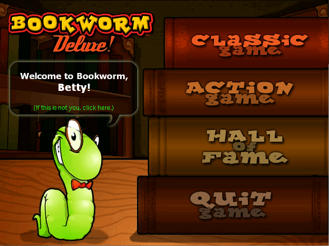 Spiel Bookworm